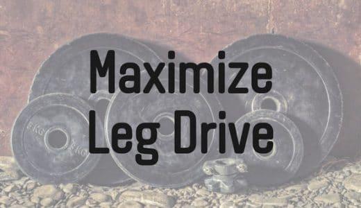ベンチプレスのレッグドライブを最大化する方法